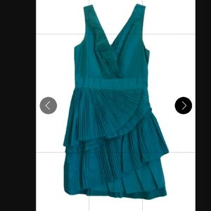 BCBG Max and Cleo Green Sleeveless Cocktail Dress